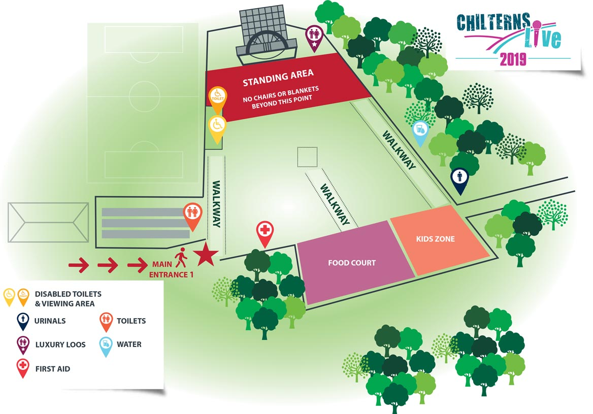 chilterns live event site map